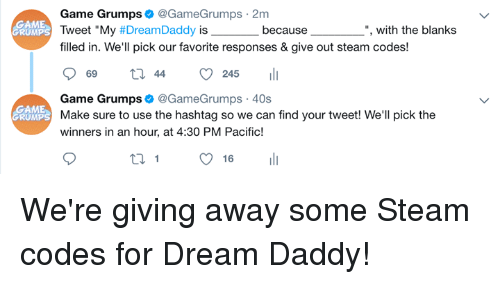 Give away steam coupons
