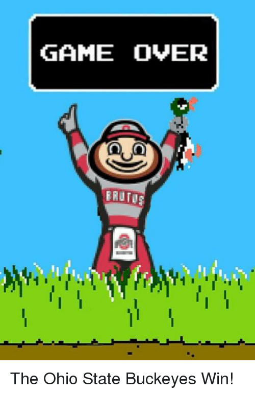 Game Over Erutor The Ohio State Buckeyes Win Nfl Meme On