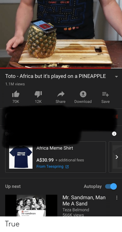 GAME OVER Toto - Africa but It's Played on a PINEAPPLE 11M Views 70K