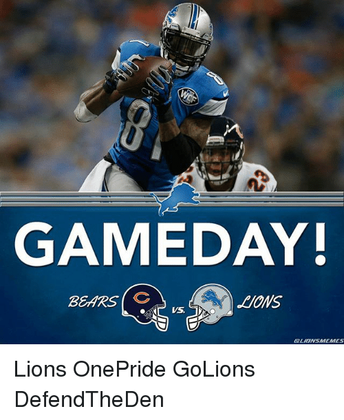 6dee5e7aacc Detroit Lions, Bear, and Bears: GAMEDAY! BEARS (C CZLIONSUMEMMES Lions  OnePride