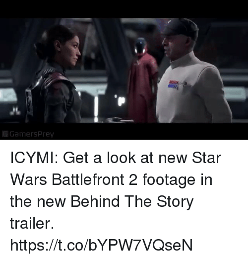 Sizzle: Gamersprey ICYMI: Get a look at new Star Wars Battlefront 2 footage in the new Behind The Story trailer. https://t.co/bYPW7VQseN