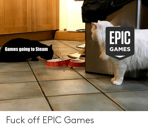 Games Going to Steam GAMES Fuck Off EPIC Games | Reddit Meme