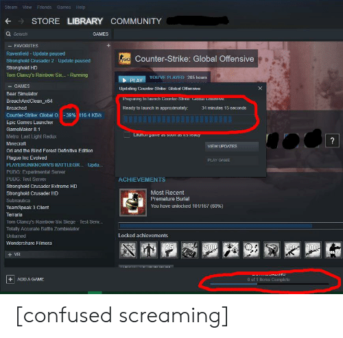 Games Help Steam View Friends STORE LIBRARY COMMUNITY Q