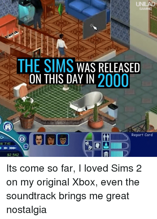 GAMING THE SIMS WAS RELEASED ON THIS DAY IN 2000 Report Card $2542