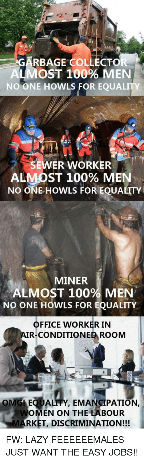Garbage Collector Most 100 Men No One Howls For Equality Ener