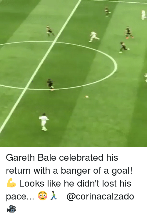 Gareth Bale, Memes, and Lost: Gareth Bale celebrated his return with a banger of a goal!💪⠀ Looks like he didn't lost his pace... 😳🏃🏻 ⠀ ⠀ @corinacalzado 🎥