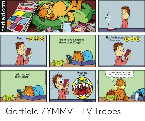 Garfield Ping But Im Hungrya Feed Me Cc Feed Mee Its Not Even