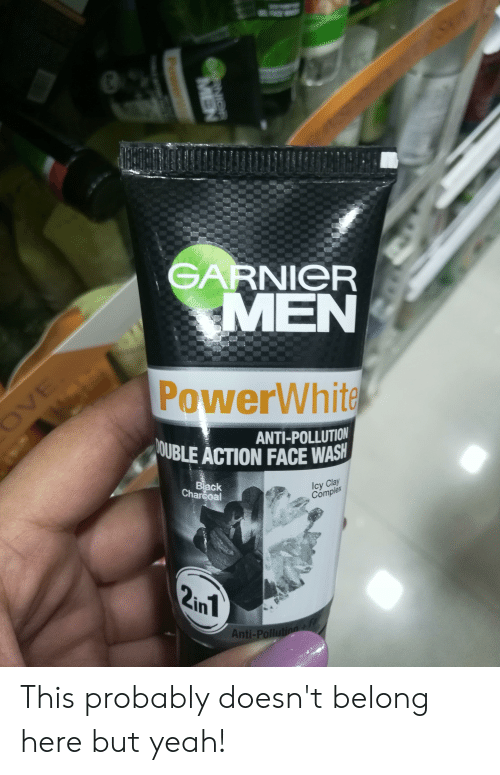 76dd8ec68d Yeah, Black, and Accidental Racism: GARNIeR MEN PowerWhite ANTI-POLLUTION  BEACTION FACE