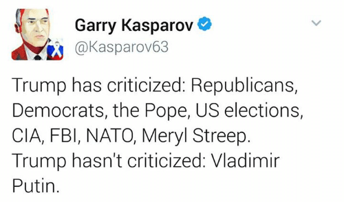 Image result for kasparov quotes about trump