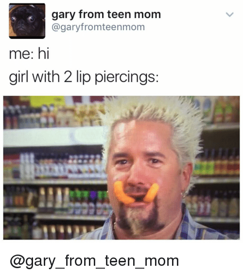 With piercing lip girl Selfie