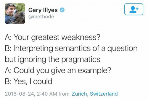 Gary Illyes a Your Greatest Weakness? B Interpreting Semantics of a ...