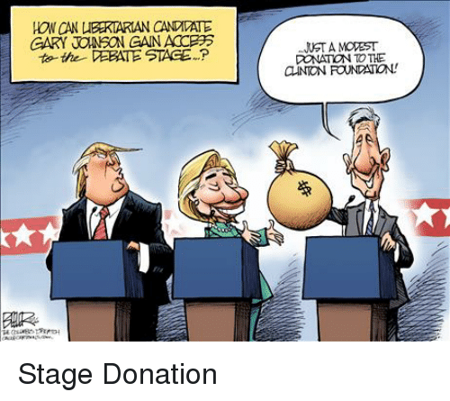 gary jonson gan acceps to the debate stage p lustamovest donation to