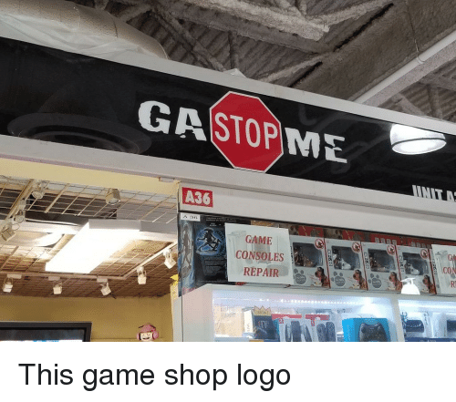 Game, Ddoi , and Logo: GASTOPNE A 36 GAME REPAIR This game shop logo