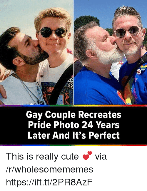 Cute, Gay, and Pride: Gay Couple Recreates  Pride Photo 24 Years  Later And It's Perfect This is really cute 💕 via /r/wholesomememes https://ift.tt/2PR8AzF