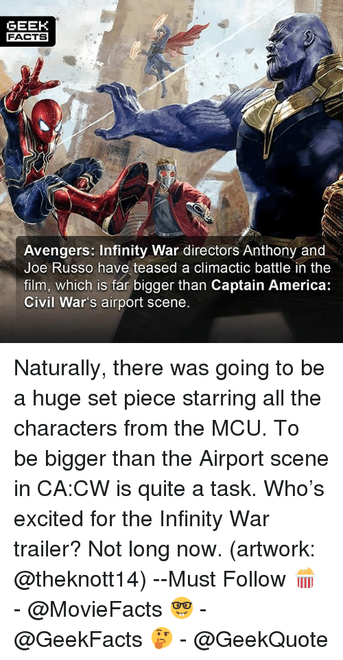 geek facts avengers infinity war directors anthony and joe russo