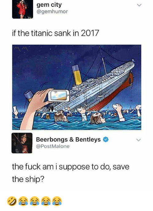 Gem City If The Titanic Sank In Re Beerbongs Bentleys The - Cruise ship fuck