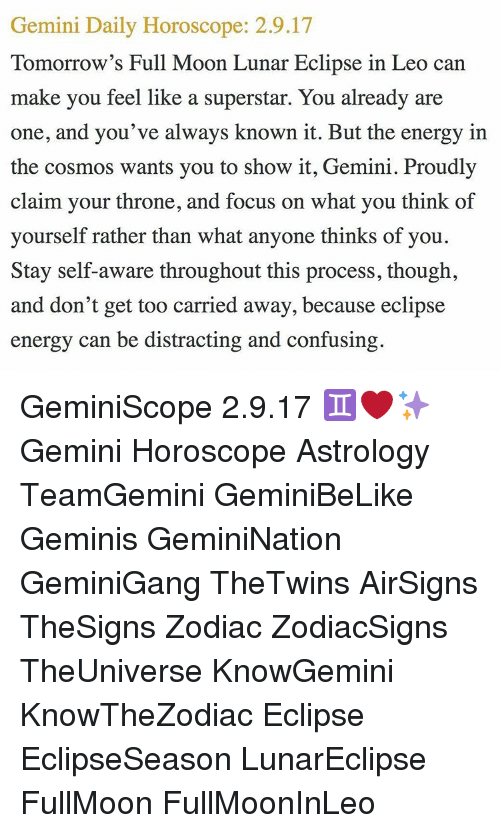 gemini astrology tomorrow