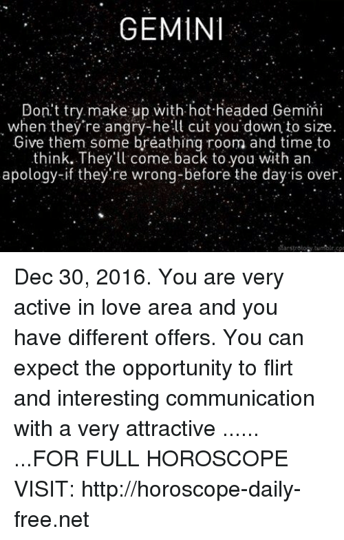 GEMINI Don't Try Make Up With Hot-Headed Gemini When They're Angry