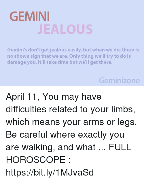 GEMINI EALOUS Gemini's Don't Get Jealous Easily but When We