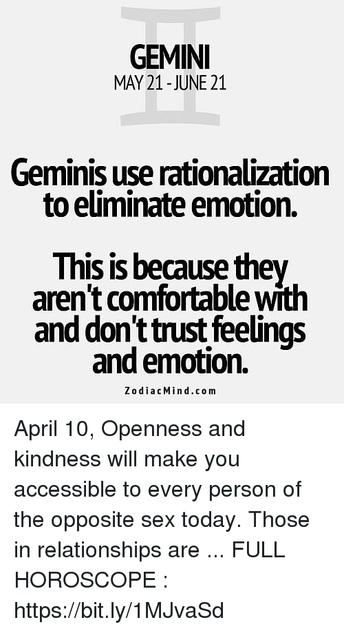 Gemini May 21 June 21 Geminis Use Rationalization To Eiminate
