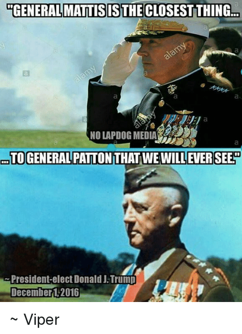 General Mattis Is The Closest Thing No Lapdog Media To General
