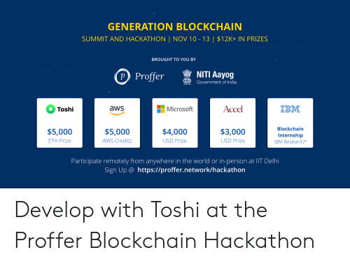 GENERATION BLOCKCHAIN SUMMIT AND HACKATHON | NOV 10-13 | $12
