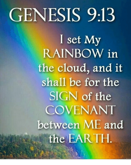 Genesis 913 I Set My Rainbow In The Cloud And It Shall Be
