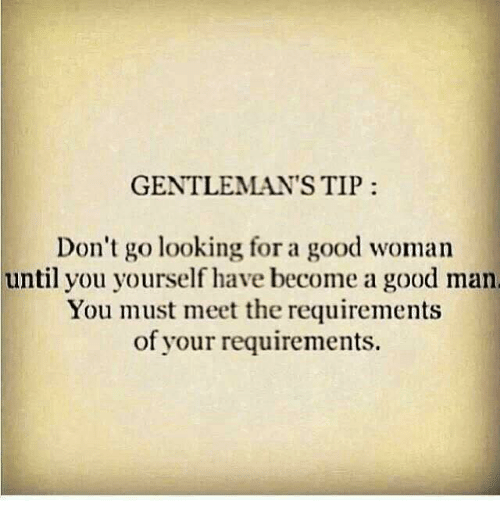Looking for a good man