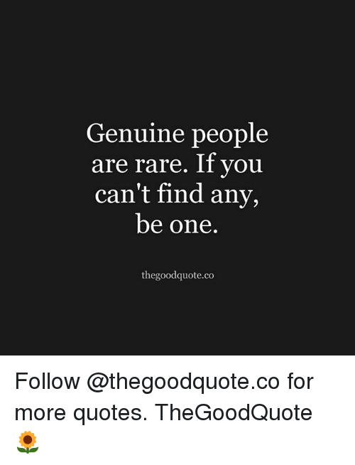 Genuine People Quotes Genuine People Are Rare if You Can't Find Any Be One  Genuine People Quotes