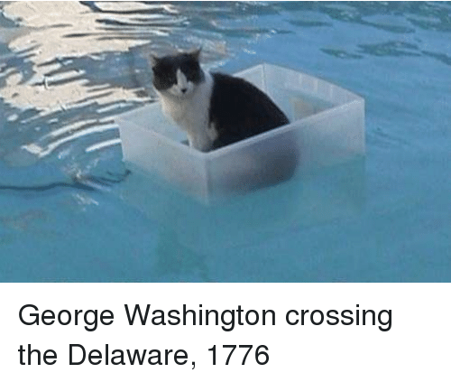 George Washington, Washington, and George Washington Crossing the Delaware: George Washington crossing the Delaware, 1776