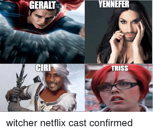 GERALT YENNEFER CIRI TRISS | Netflix Meme on ME ME