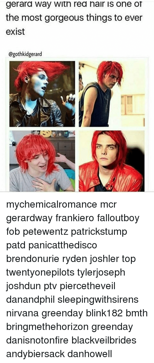 Gerard Way With Red Hair Is One Of The Most Gorgeous Things To Ever