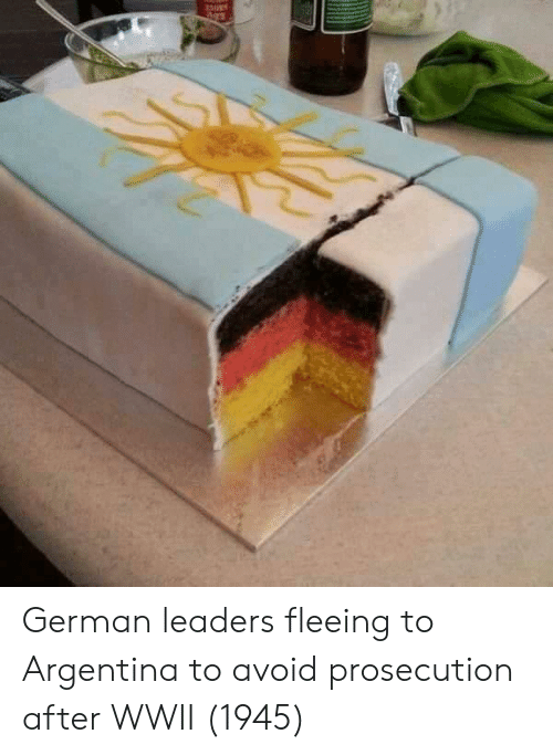 Argentina, Wwii, and German: German leaders fleeing to Argentina to avoid prosecution after WWII (1945)