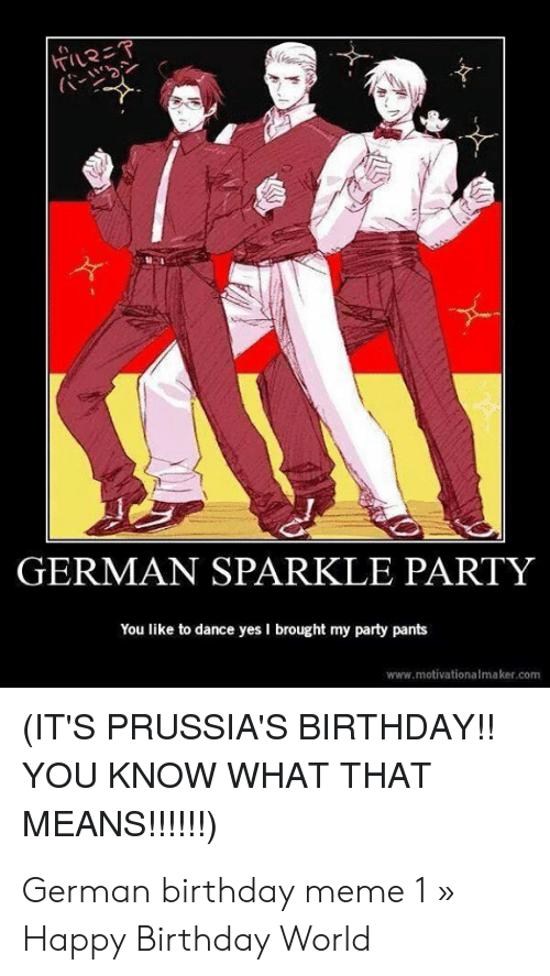 GERMAN SPARKLE PARTY You Like to Dance Yes I Brought My