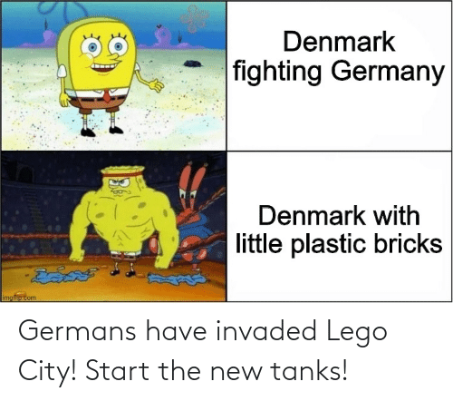 Lego, History, and Tanks: Germans have invaded Lego City! Start the new tanks!