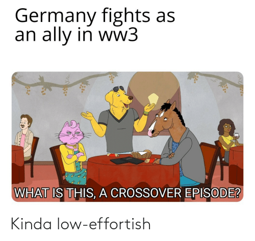 Ally, Germany, and What Is: Germany fights as  an ally in ww3  WHAT IS THIS, A CROSSOVER EPISODE? Kinda low-effortish