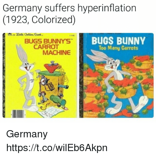 Germany Suffers Hyperinflation 1923 Colorized a Skttlk Colden Book