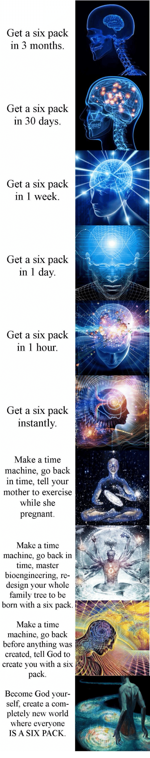 how to get a six pack instantly