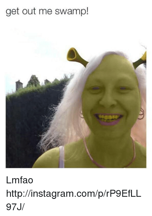 Get Out Me Swamp! Lmfao HttpinstagramcomprP9EfLL97J