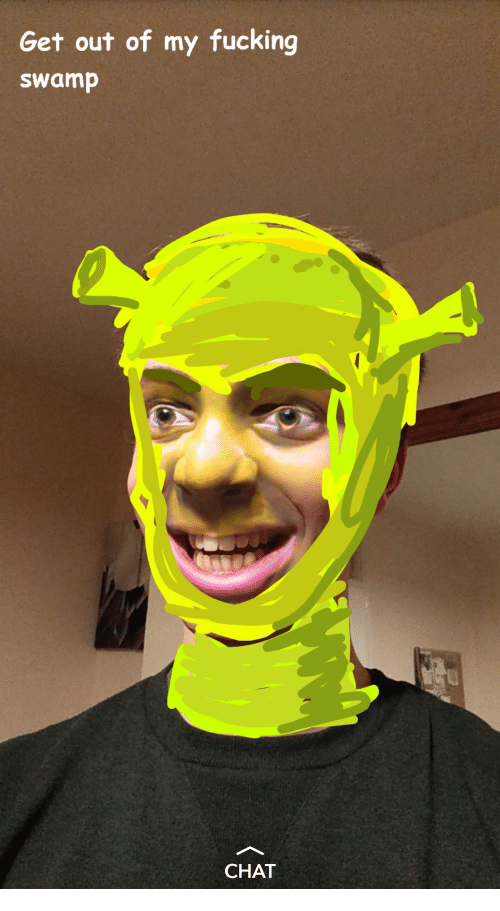Chat, Swamp, and Get: Get out of my fucking  swamp  CHAT