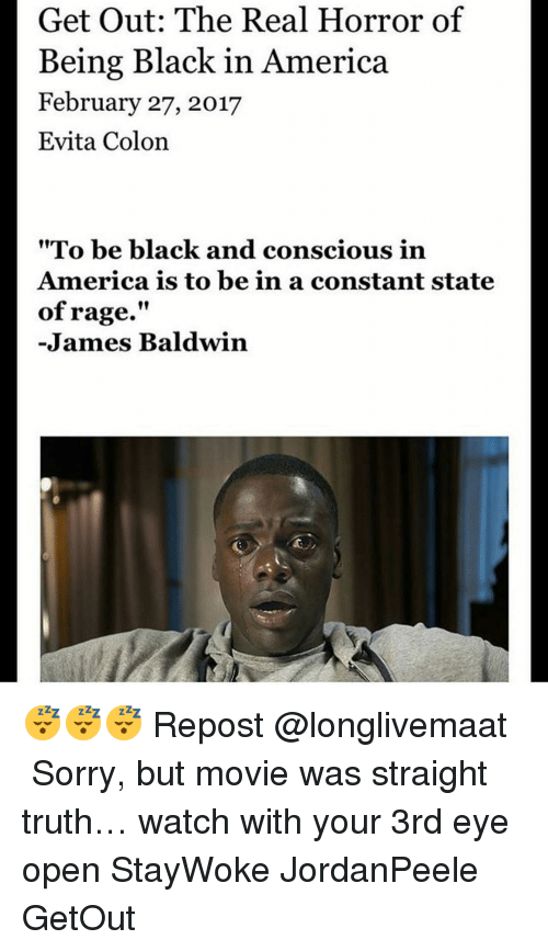 Get Out The Real Horror Of Being Black In America February 27 2017