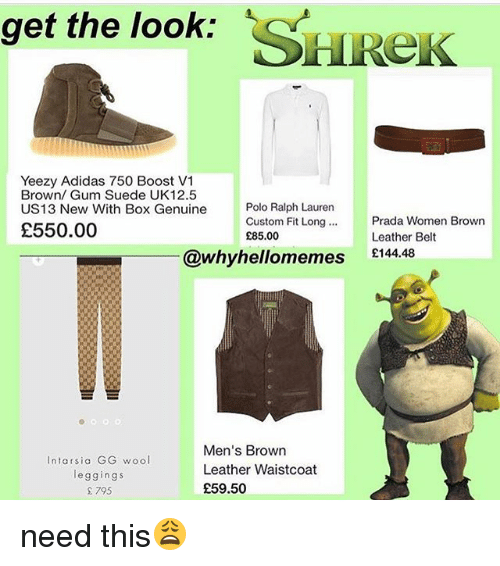 new arrival f7b7e a48f9 Get the Look SHReK Yeezy Adidas 750 Boost V1 Brown Gum Suede ...