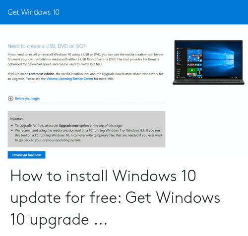 Get Windows 10 Need to Create a USB DVD or ISO? If You Need to