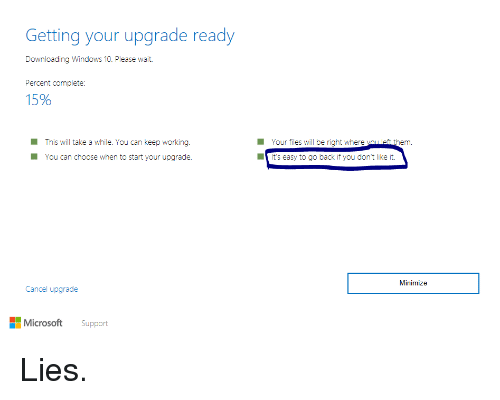 Getting Your Upgrade Ready Downloading Windows 10 Please