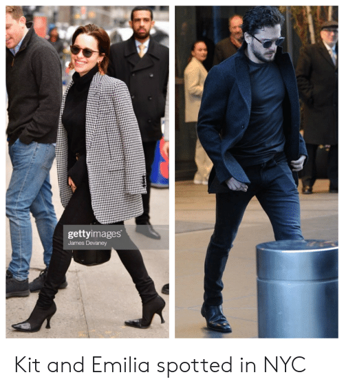 Nyc, James, and Emilia: gettyimages  James Devanev Kit and Emilia spotted in NYC