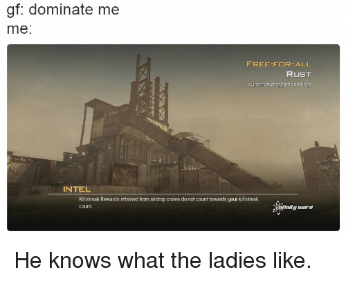 Gf Dominate Me Me FREE FOR ALL RUST Synchronizing Game