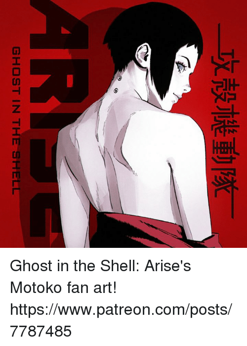 Ghost In The Shell Ghost In The Shell Arise S Motoko Fan Art Httpswwwpatreoncomposts7787485 Dank Meme On Me Me