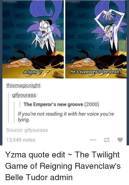 Emperors New Groove Quotes GIF YOUR RSS GIF YOUR RSS a Llama He's Supposed Tobe Dead  Emperors New Groove Quotes