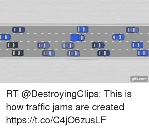 Traffic, Gifs, and How: gifs.com RT @DestroyingCIips: This is how traffic jams are created https://t.co/C4jO6zusLF