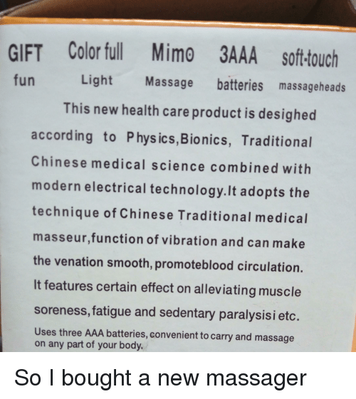 Massage, Smooth, And Chinese: GIFT Color Ful Mimo 3AAA Soft Touch Fun